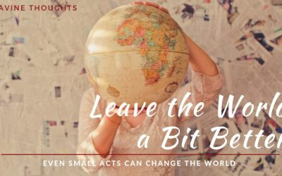 Optimistic Tips to Leave the World Better